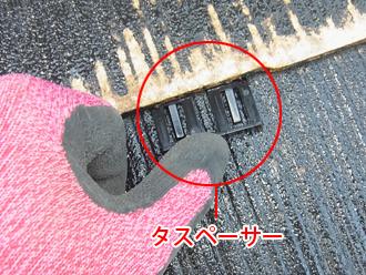千葉県袖ヶ浦市 屋根塗装 タスペーサーを使った縁切り