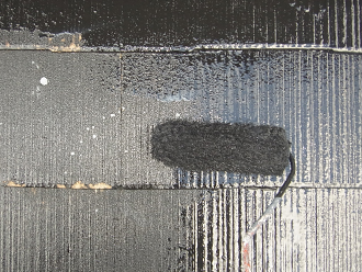 千葉県袖ヶ浦市 屋根塗装 中塗り