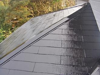 千葉県袖ヶ浦市 屋根塗装 中塗り完了