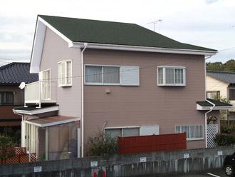 千葉県袖ヶ浦市 屋根塗装・外壁塗装 カラーシミュレーション 屋根をグリーン、外壁は薄めのライトブラウン