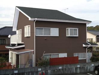 千葉県袖ヶ浦市 屋根塗装・外壁塗装 屋根をグレー、外壁を落ち着いたブラウンに