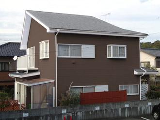 千葉県袖ヶ浦市 屋根塗装・外壁塗装 屋根を明るめのグレー、外壁を落ち着いたブラウンに