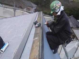 千葉県袖ヶ浦市 屋根塗装・外壁塗装 棟板金交換 貫板の設置