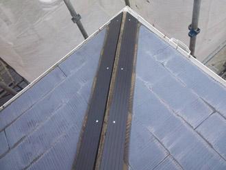 千葉県袖ヶ浦市 屋根塗装・外壁塗装 棟板金交換 樹脂製の貫板