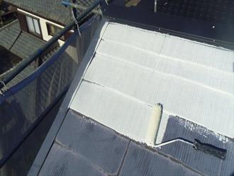千葉県袖ヶ浦市 屋根塗装・外壁塗装 屋根の下塗り