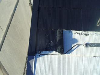 千葉県袖ヶ浦市 屋根塗装・外壁塗装 屋根の中塗り