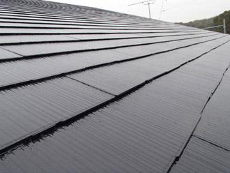 千葉県袖ヶ浦市 屋根塗装・外壁塗装 2階の屋根塗装完了
