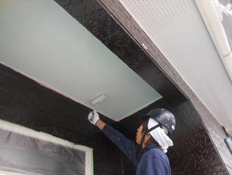 千葉県袖ヶ浦市 屋根塗装・外壁塗装 軒天の塗装