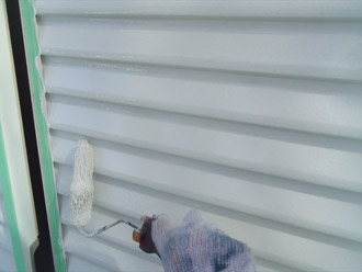 千葉県袖ヶ浦市 屋根塗装・外壁塗装完了 雨戸の塗装