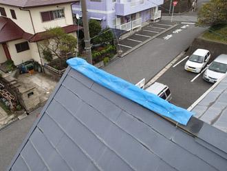 千葉県袖ヶ浦市 屋根塗装・外壁塗装 点検 反対の斜面の様子