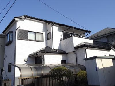 埼玉県 富士見市 屋根塗装 外壁塗装 バルコニー防水 外壁塗装工事完了