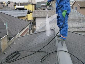 埼玉県 富士見市 屋根塗装 外壁塗装 バルコニー防水 屋根の高圧洗浄