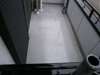埼玉県 富士見市 屋根塗装 外壁塗装 バルコニー防水 バルコニーの高圧洗浄後