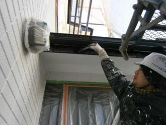 埼玉県 富士見市 屋根塗装 外壁塗装 バルコニー防水  その他の塗装 破風板 重ね塗り