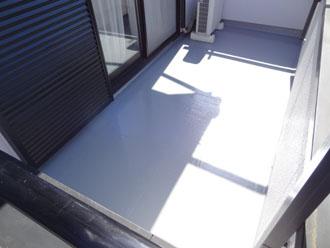 埼玉県 富士見市 屋根塗装 外壁塗装 バルコニー防水 自社検査 トップコート塗布後