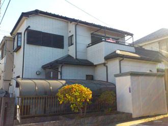 埼玉県 富士見市 屋根塗装 外壁塗装 バルコニー防水 点検 遠目からの外壁