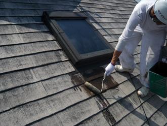 東京都立川市 屋根塗装工事 シーラー塗装