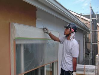 神奈川県厚木市 外壁塗装工事 下塗り