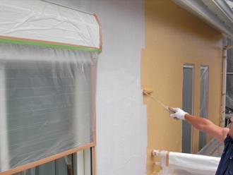 屋根塗装工事 外壁塗装工事 中塗り ナノコンポジットW
