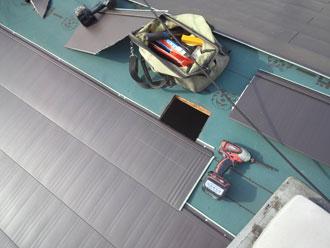 横浜市中区 屋根カバー 新規屋根材葺き 横暖ルーフきわみ