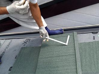横浜市保土ケ谷区 屋根カバー工事 エコグラーニの加工