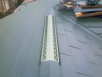 屋根カバー工事 軒先の屋根葺き