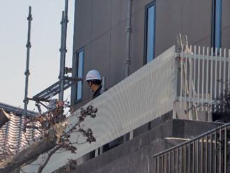 横浜市港北区 雨漏り補修 足場架設