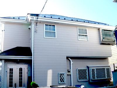 横浜市瀬谷区 棟板金交換  屋根塗装・外壁塗装 工事完了後のお住まい