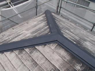 横浜市瀬谷区 棟板金交換  屋根塗装・外壁塗装  棟板金交換完了