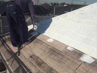 横浜市瀬谷区 屋根塗装・外壁塗装 屋根の下塗り