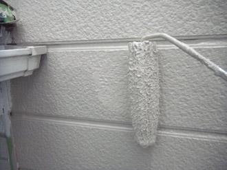 横浜市瀬谷区 棟板金交換  屋根塗装・外壁塗装 上塗り