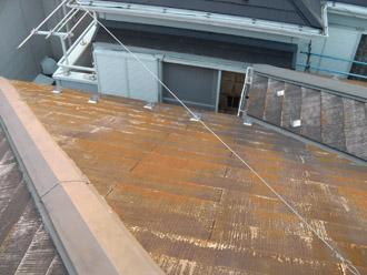横浜市瀬谷区 棟板金交換  屋根塗装・外壁塗装 点検 棟板金の様子
