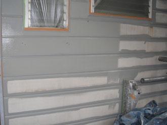 屋根塗装工事 外壁塗装 中塗り ナノコンポジットW