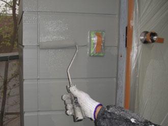 横浜市磯子区 外壁塗装 上塗り ナノコンポジットW