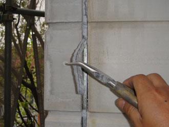 屋根塗装工事 目地補修 既存コーキング撤去