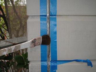 屋根塗装工事 目地補修 養生 プライマー塗布