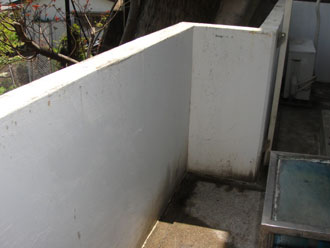 横浜市磯子区 細部塗装 擁壁塗装前