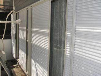 屋根塗装工事 細部塗装 雨戸塗装後
