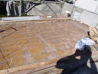 横浜市磯子区 屋根葺き替え 既存屋根解体