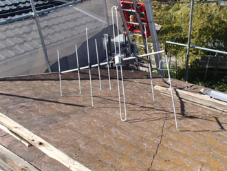 屋根塗装工事 屋根葺き替え 既存屋根解体