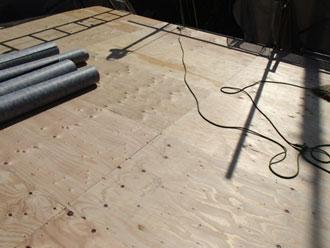 横浜市磯子区 屋根葺き替え 野地板増し張り