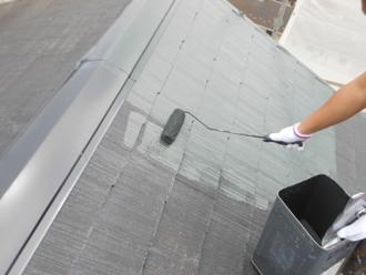 神奈川県磯子区 屋根塗装 中塗り