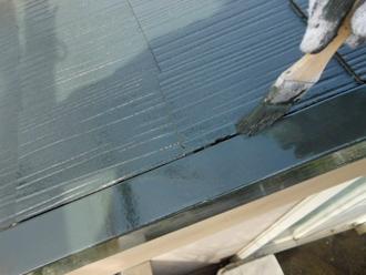 屋根塗装工事 屋根塗装 中塗り