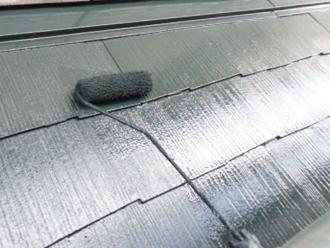 屋根塗装工事 屋根塗装 上塗り