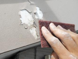 神奈川県磯子区 破風板塗装工事 ケレン