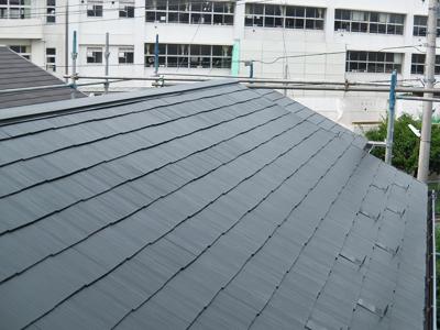 神奈川県磯子区 棟板金交換 屋根塗装工事完了