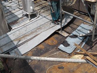 横浜市都筑区 屋根葺き替え 外壁塗装 これまでの屋根の解体