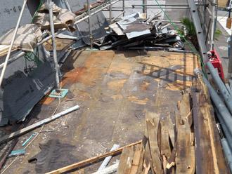 横浜市都筑区 屋根葺き替え 外壁塗装 これまでの屋根の撤去