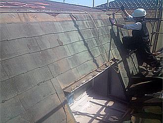 横浜市都筑区 屋根葺き替え 外壁塗装 以前、施工されたカバー工法