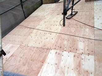横浜市都筑区 屋根葺き替え 外壁塗装 野地板の増し貼り完了